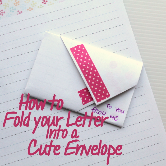 Fold A Rectangle Letter Into An Envelope 001