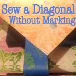Sew a Diagonal Without Marking