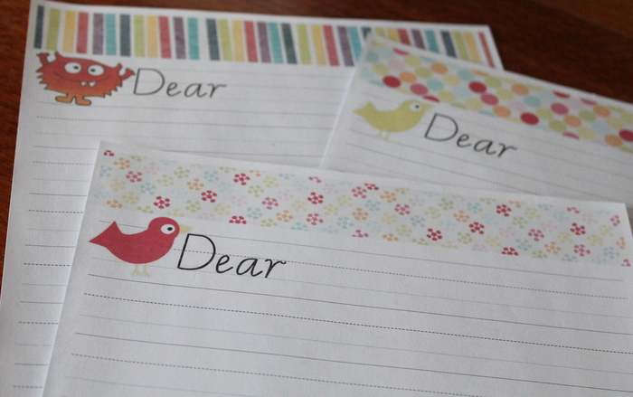 printable letter writing paper