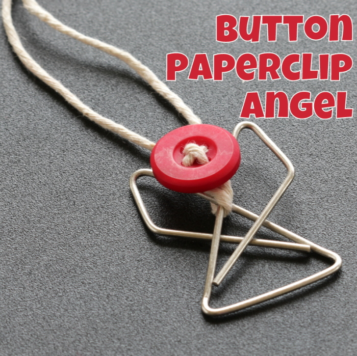 Button Paperclip Angel Tutorial