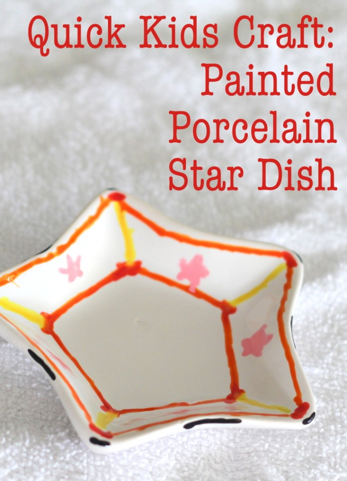 Quick Kids Craft Painted Porcelain Star Dish