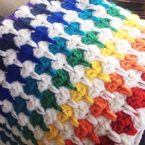 blanket heart rainbow
