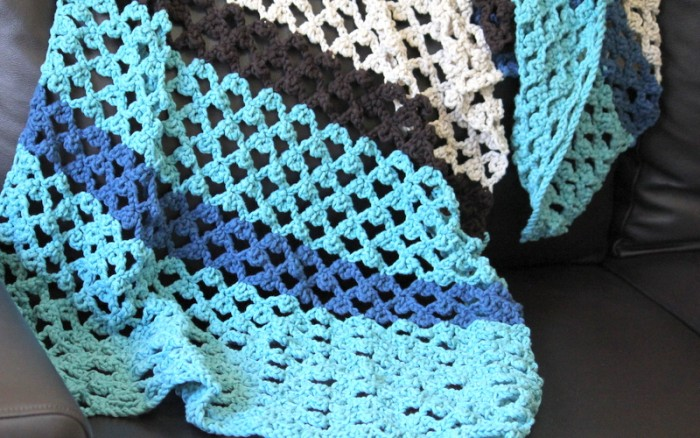 lacy crochet wrap shawl