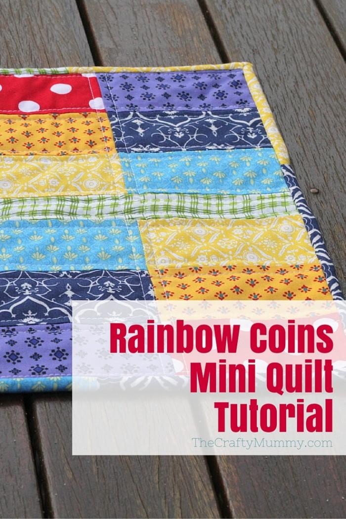 Rainbow Coins Mini Quilt Tutorial