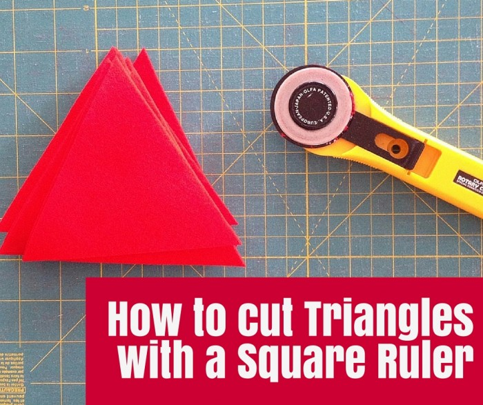 How to cut Triangles with a Square Ruler - Learn how to cut triangles with a square ruler - super easy and you will have perfect accurate triangles for your patchwork or craft projects.