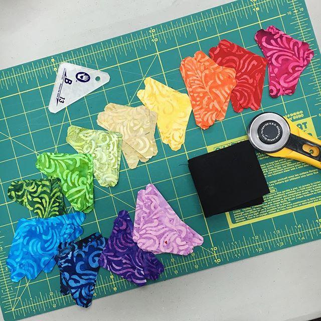 Rainbow Star Mini Quilt Progress The Crafty Mummy