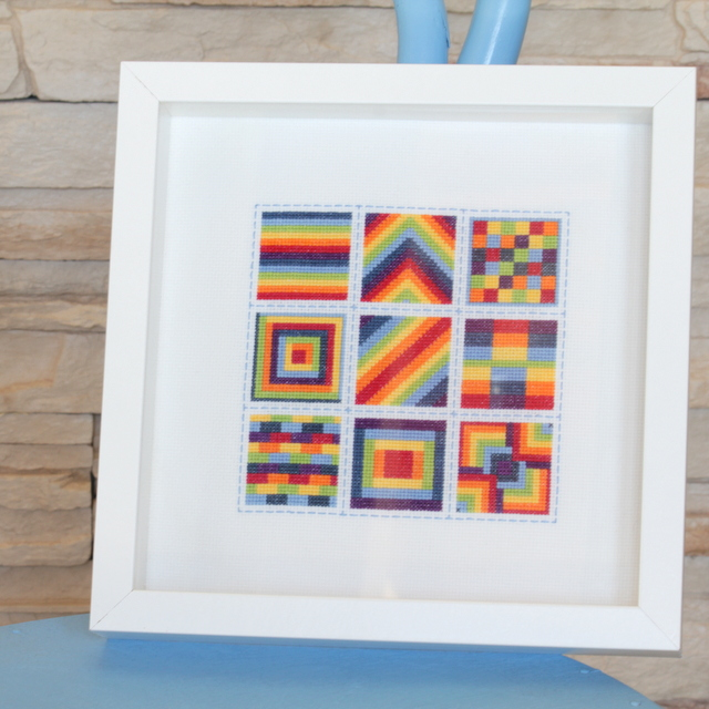 All the Cross Stitch Rainbow Blocks