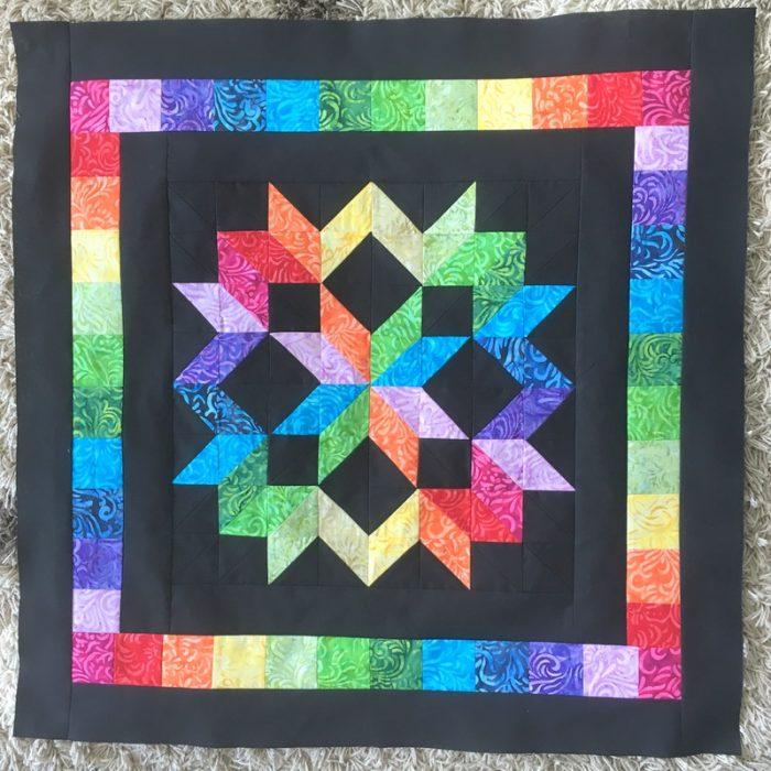 Rainbow Star Quilt Progress The Crafty Mummy