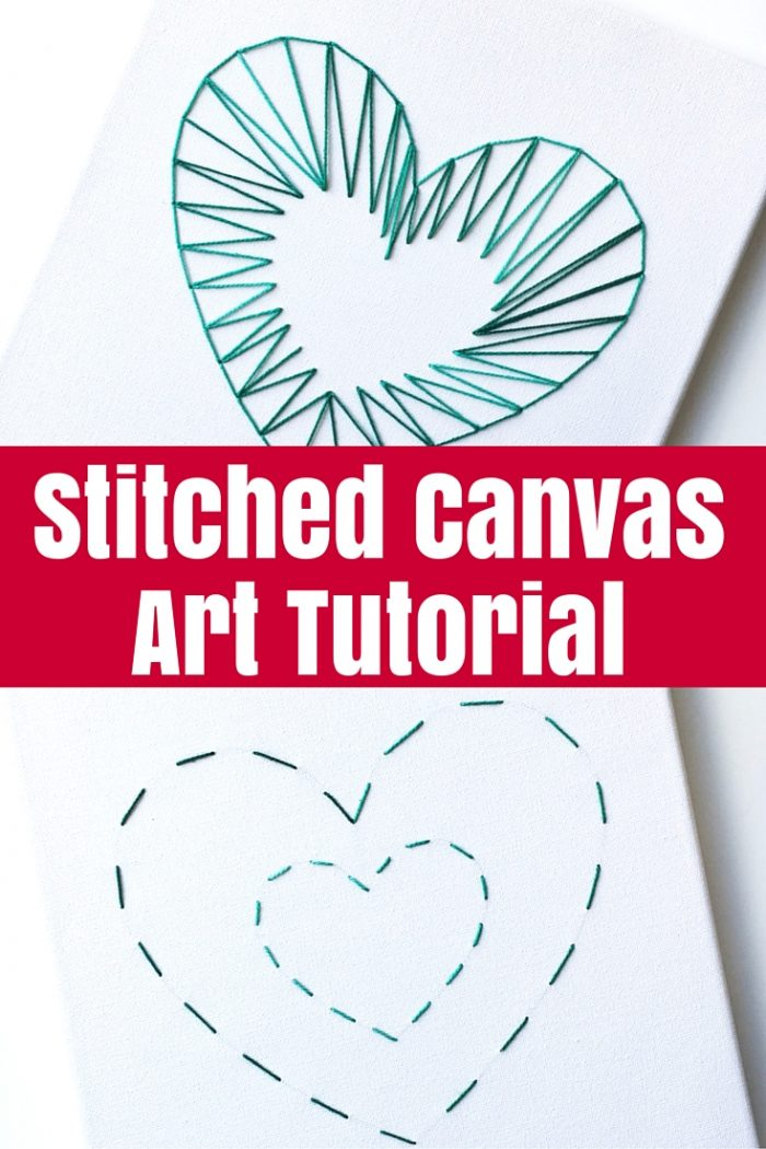 Stitched Canvas Art Tutorial