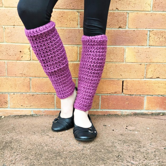 Easy Crochet Leg Warmers - The Crafty Mummy