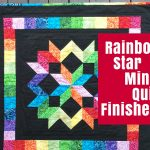 Rainbow Star Mini Quilt Finished