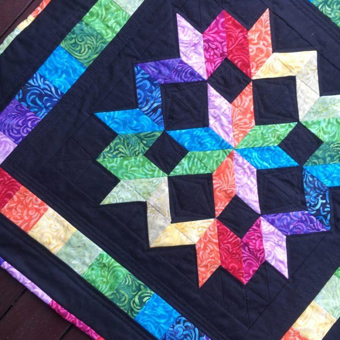 rainbow star mini quilting