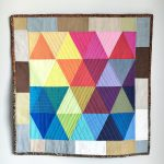 Rainbow Triangles Mini Quilt Tutorial