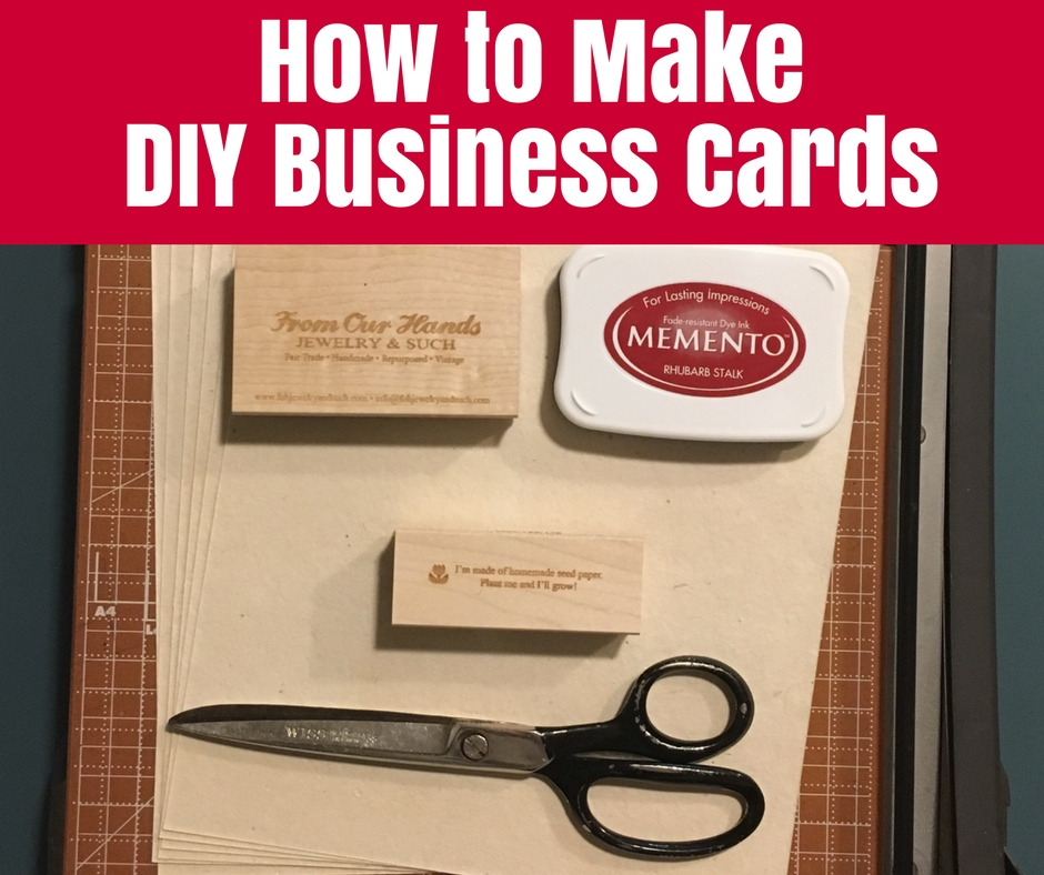 How to make diy business cards o the crafty mummy for How do you make your own business cards on word