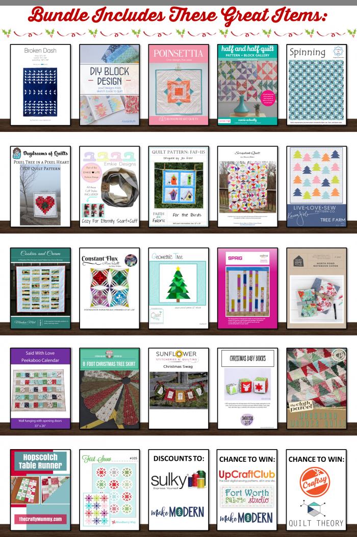 Christmas in July Pattern Bundle - on sale now - July 11 -14 2017