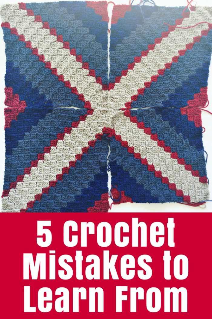 Are you making these 5 crochet mistakes? They are easy to spot and easy to fix so you'll be crocheting better in no time.