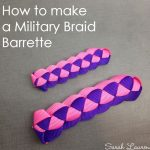Tutorial: Military Braid Barrette with Grosgrain Ribbon