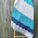 Denim Ripple Crochet Blanket Done!