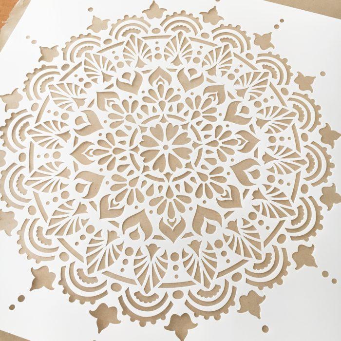 Paradise Mandala Stencil from Stencil Revolution